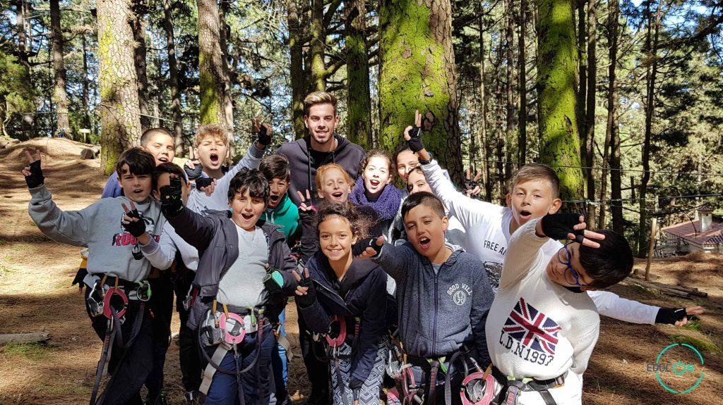 equipo EDUCON Forestal Park Tenerife emociones