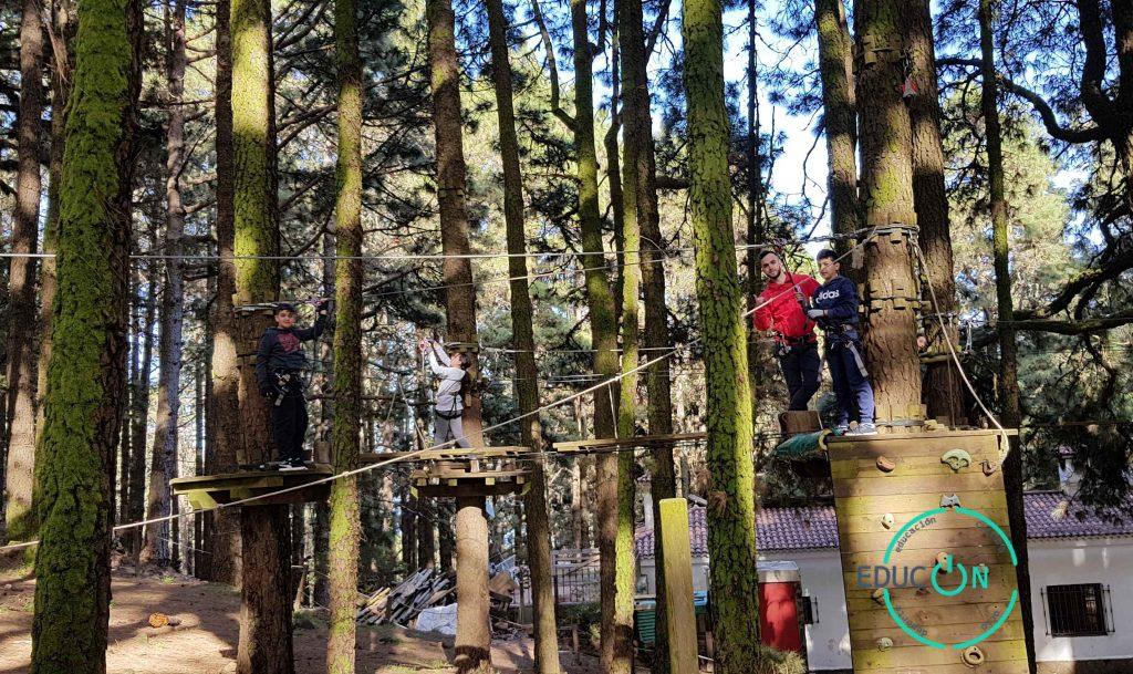EDUCON en Forestal Park Tenerife educación y diversión