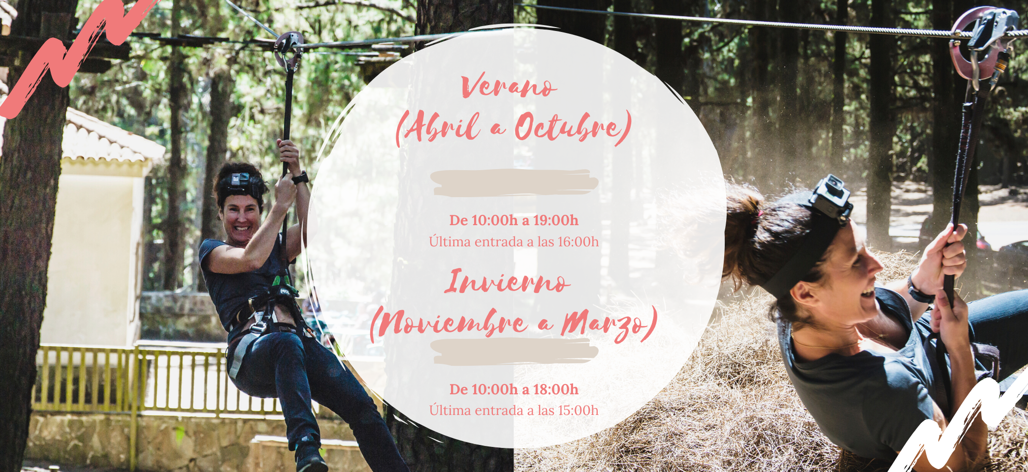 Horario Forestal Park Tenerife para verano e invierno durante el año 2020