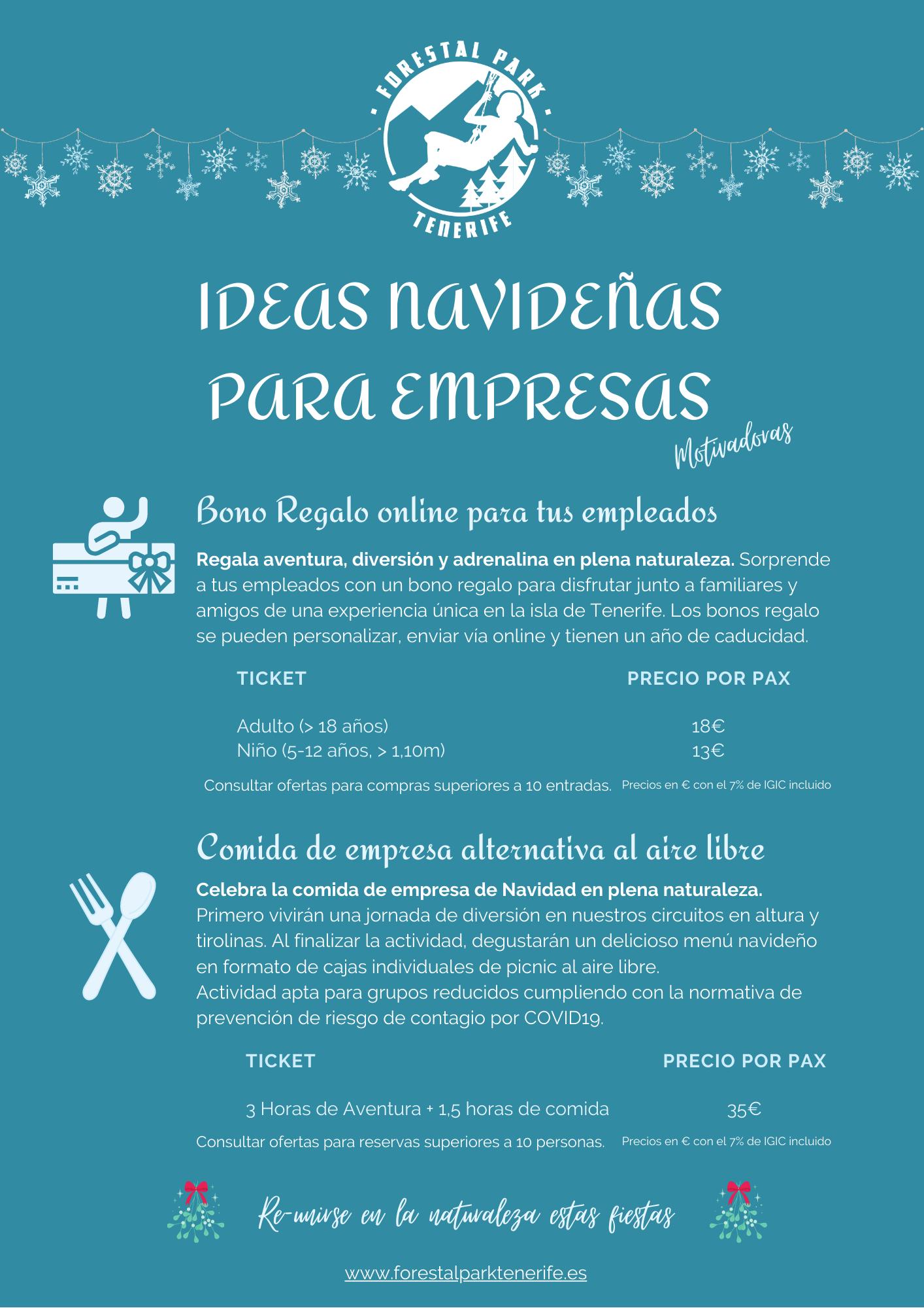 Navidad 2020 ideas para actividades para empresas de Tenerife
