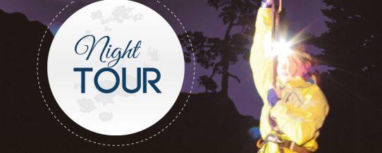 zipline night tour